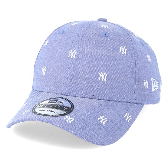 Keps New York Yankees 9Forty Monogram Sky/White Adjustable - New Era - Lila Reglerbar