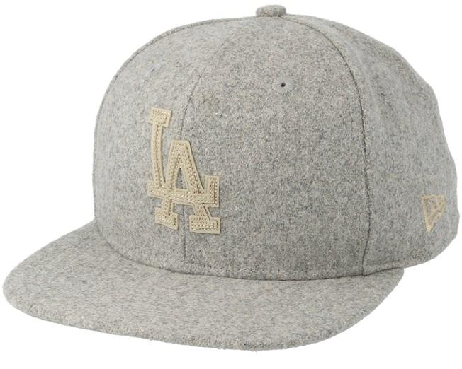 Los Angeles Dodgers Melton 9Fifty Grey Snapback - New Era caps -  Hatstoreworld.com 57398173f852