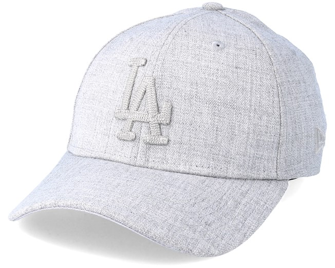 official photos f7c49 8da82 Los Angeles Dodgers 39Thirty Heather Grey Flexfit - New Era caps -  Hatstoreworld.com