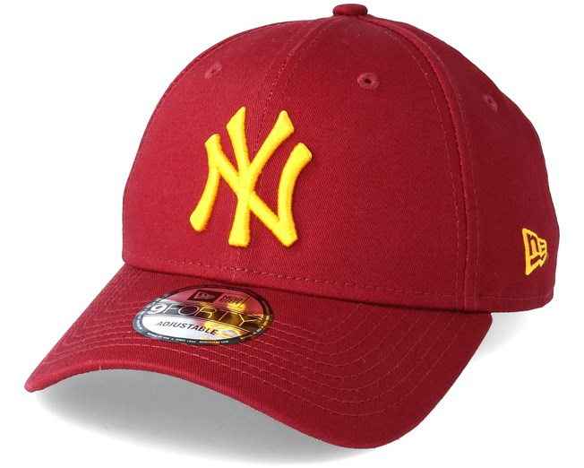 New York Yankees League Essential 9Forty Cardinal Adjustable - New ... a3a659ec962