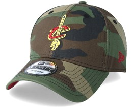 Cleveland Cavaliers Team 9Forty Green Camo Adjustable - New Era