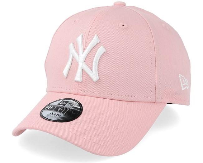 fa4f6525a6a Kids New York Yankees 9Forty League Essential Pink Adjustable - New Era caps  - Hatstoreworld.com