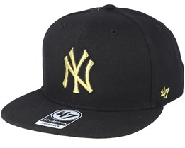 b31cc2efaa0267 New York Yankees Metal/Vise Black Snapback - 47 Brand