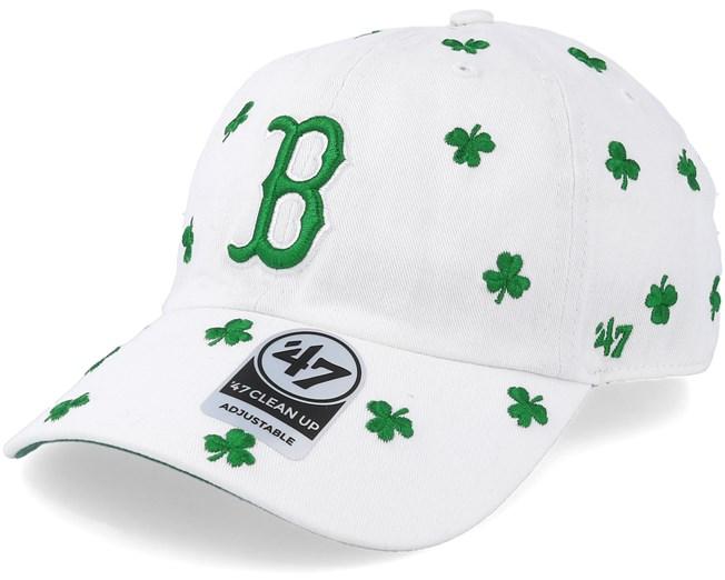 on sale dd87d 4752d Boston Red Sox St Patty´s Tourist 47 Clean Up White Adjustable - 47 Brand  caps - Hatstoreworld.com