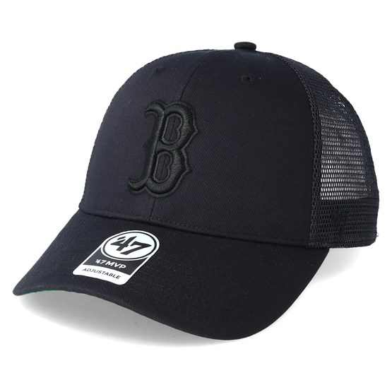Keps Boston Red Sox Branson Black Trucker - 47 Brand - Svart Trucker