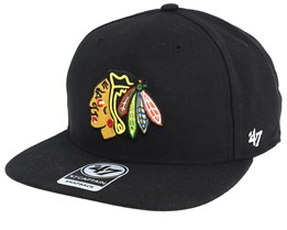 Chicago Blackhawks No Shot 47 Captain Black Snapback - 47 Brand