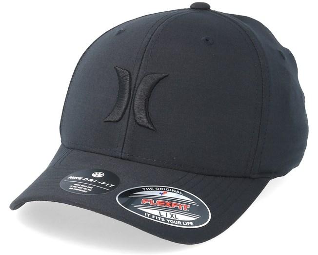 sale retailer 47297 6a064 Dri-Fit Cutback Black Black Flexfit - Hurley caps - Hatstoreaustralia.com