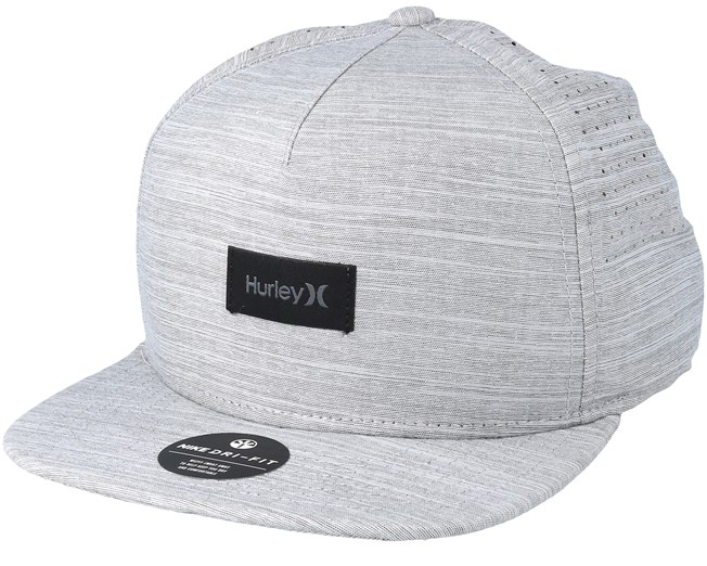 brand new 5fc86 6d985 Dri-Fit Staple Grey Snapback - Hurley