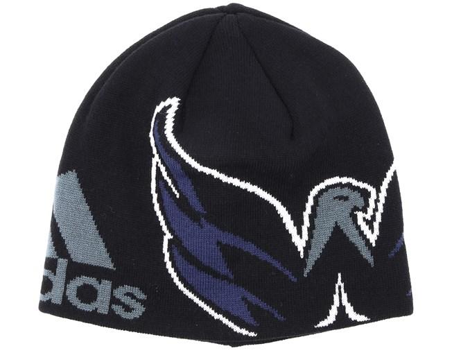 promo code 3bc35 f8d4f Washington Capitals Jacqurad Black Beanie - Adidas beanies -  Hatstoreworld.com