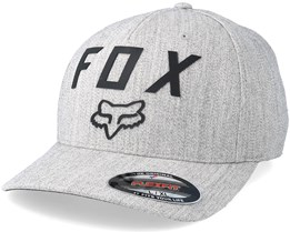 Number 2 Light Heather Grey/Black Flexfit - Fox