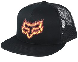 Flame Head Black/Orange Trucker - Fox