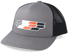 Kids Super Head Mesh Grey/Black Trucker - Fox