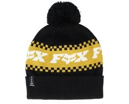 Overkill Beanie Black/Yellow Pom - Fox