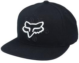 Top Coat Hat Black Snapback - Fox