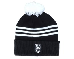 Vegas Golden Knights 3-Stripe Cuffed Black Pom - Adidas