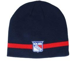New York Rangers Coach Navy Beanie - Adidas