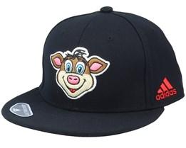 Carolina Hurricanes Mascot Flat Brim Black Snapback - Adidas