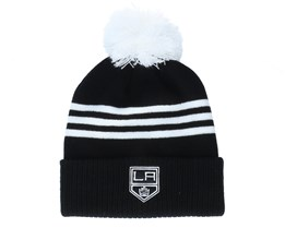 Los Angeles Kings 3-Stripe Cuffed Black Pom - Adidas