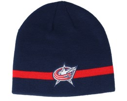 Columbus Blue Jackets Coach Navy Beanie - Adidas