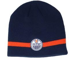 Edmonton Oilers Coach Navy Beanie - Adidas
