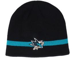 San Jose Sharks Coach Black Beanie - Adidas