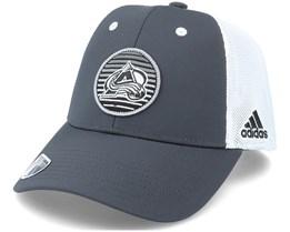 Colorado Avalanche Mesh Carbon/White Trucker - Adidas