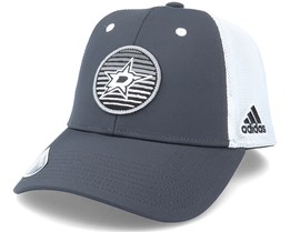 Dallas Stars Mesh Carbon/White Trucker - Adidas