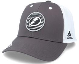 Tampa Bay Lightning Mesh Carbon/White Trucker - Adidas