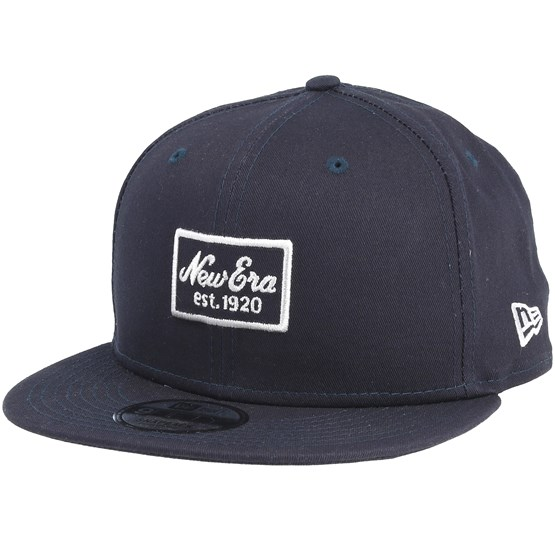 New Era 19TWENTY /'Melton Script/' New York Yankees Navy Blue//White Fitted Cap