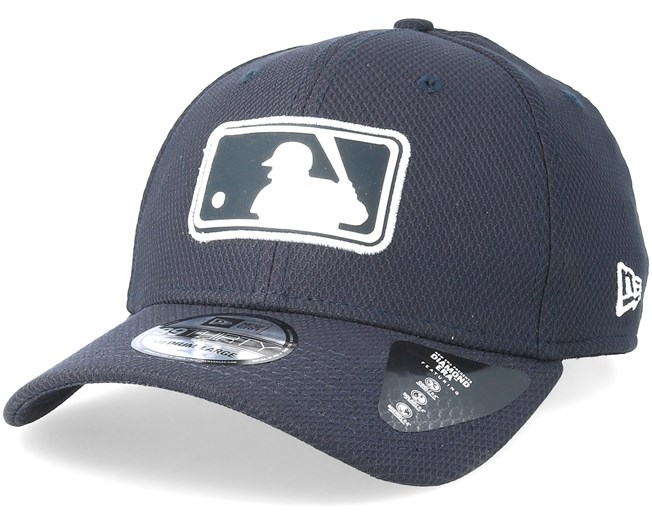 7aadab03b40 New York Yankees League Logo 39Thirty Diamond Navy Flexfit - New Era cap -  Hatstore.co.in