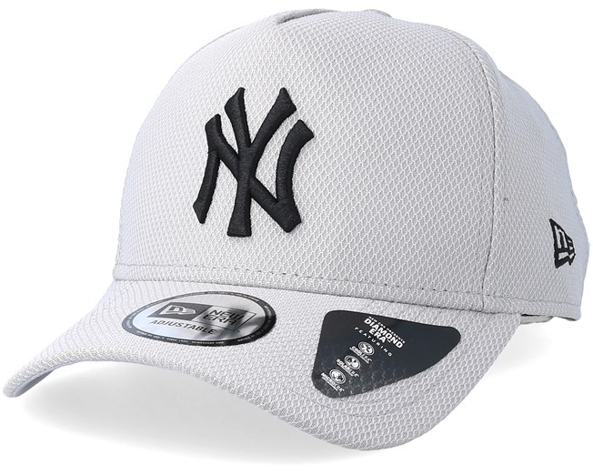 17c0b1745fe9cf New York Yankees Diamond A-Frame Grey/Black Adjustable - New Era caps -  Hatstoreworld.com
