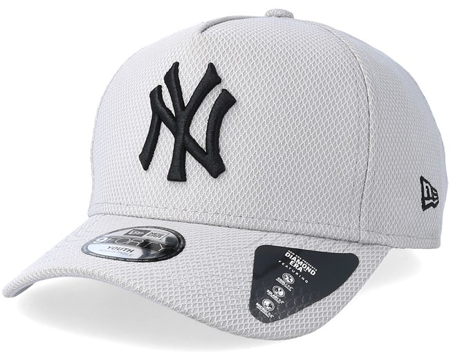 hot sale online 0bc42 5780b Kids New York Yankees Diamond A-Frame Grey Black Adjustable - New Era caps  - Hatstore.ae