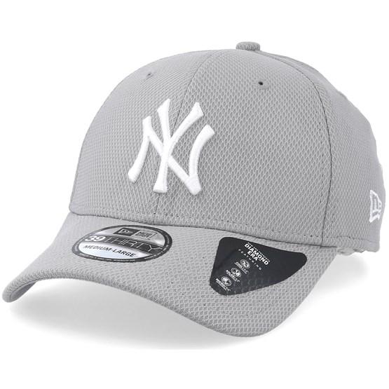 510e931b34826 New York Yankees Diamond 39Thirty Grey White Flexfit - New Era caps -  Hatstoreworld.com