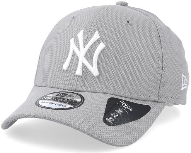New York Yankees Diamond 39Thirty Grey White Flexfit - New Era caps -  Hatstoreworld.com 9745beba779