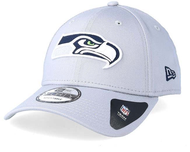 Seattle Seahawks Reverse Colour 9Forty Grey Adjustable - New Era cap -  Hatstore.co.in 720a80c48