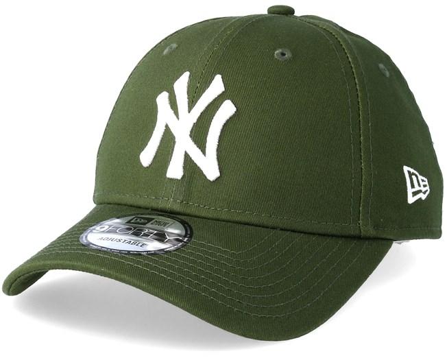 New York Yankees League Essential 9Forty Rifle Green White Adjustable - New  Era - Start Cappellino - Hatstore 5b007f8fccfa