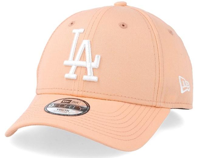 c186f837815 Kids Los Angeles Dodgers League Essential 9Forty Peach White Adjustable - New  Era caps - Hatstoreaustralia.com