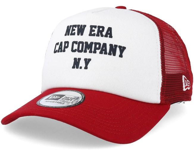 dd473976 Colour Block White/Scarlet Trucker - New Era caps - Hatstoreaustralia.com