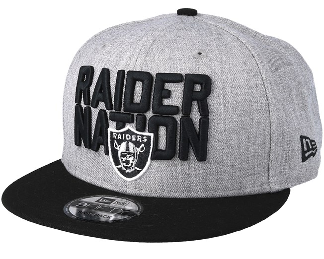 wholesale online separation shoes coupon codes Oakland Raiders 2018 NFL Draft On-Stage Grey/Black Snapback - New ...