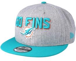 Miami Dolphins 2018 NFL Draft On-Stage Grey/Teal Snapback - New Era