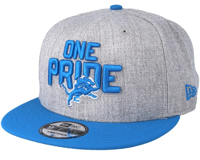 Detroit Lions 2018 NFL Draft On-Stage Grey Blue Snapback - New Era ... 4f27662cec6
