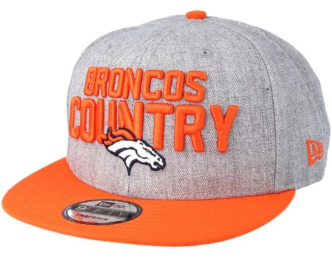 promo code 70d7b 06bcc Denver Broncos 2018 NFL Draft On-Stage Grey Orange Snapback - New Era caps  - Hatstoreaustralia.com