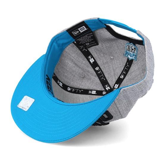 ffe3b43ce Carolina Panthers 2018 NFL Draft On-Stage Grey Teal Snapback - New Era caps  - Hatstoreworld.com