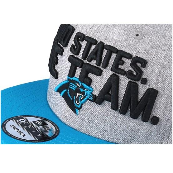 b9eac3f6001 Carolina Panthers 2018 NFL Draft On-Stage Grey Teal Snapback - New Era caps  - Hatstoreworld.com