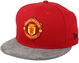 Manchester United Suede Vize 9Fifty Red/Grey Snapback - New Era