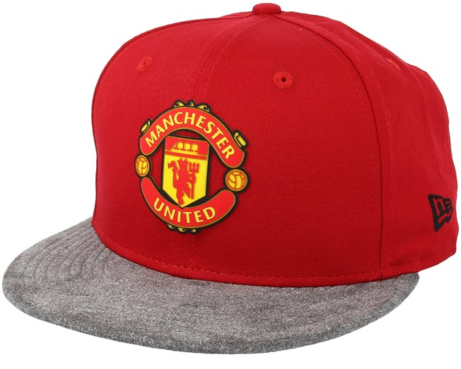Manchester United Suede Vize 9Fifty Red Grey Snapback - New Era - Start  Gorra - Hatstore 3f4dc3bc652