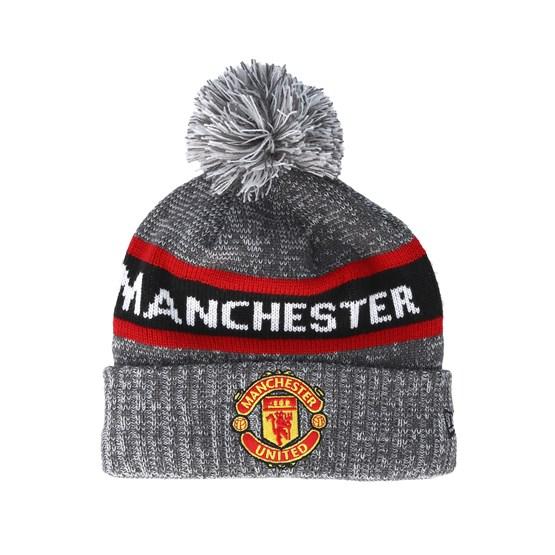 5932b67d1 Manchester United Marl Jake Knit Grey Pom - New Era beanies -  Hatstorecanada.com