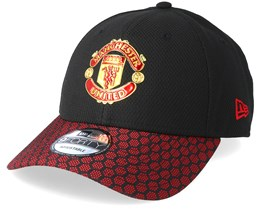 Manchester United Hex Weave Vize 9Forty Black Adjustable - New Era