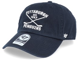 Pittsburgh Penguins Clean Up Axis Black/White Adjustable - 47 Brand