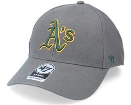 Oakland Athletics Mvp Charcoal Adjustable - 47 Brand